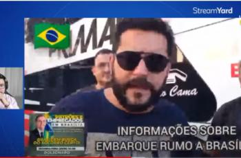 O povo brasileiro indo para Brasília